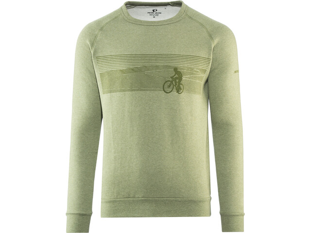 PEARL iZUMi Crew Sweatshirt Men landscape bike army green